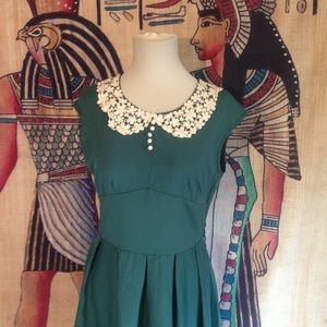 Vintage Style Rockabilly Party Hepburn Tea Dress L
